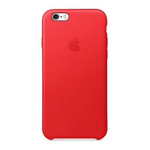 Как выглядит Чехол Apple Leather для iPhone 6S / 6 RED (MKXX2ZM/A)