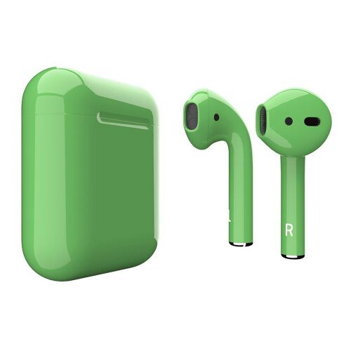 Как выглядит AirPods 2 Colors Lime Green Gloss (MV7N2)