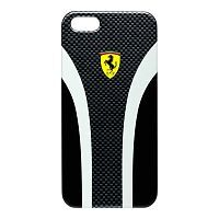 Как выглядит Чехол CG Mobile Ferrari Hard Scuderia Carbon Collection для iPhone SE / 5S / 5 Black (FESCHCIP5CB)