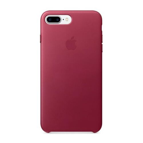 Как выглядит Чехол Apple Leather Case для iPhone 8 Plus / 7 Plus Berry (MPVU2ZM/A)