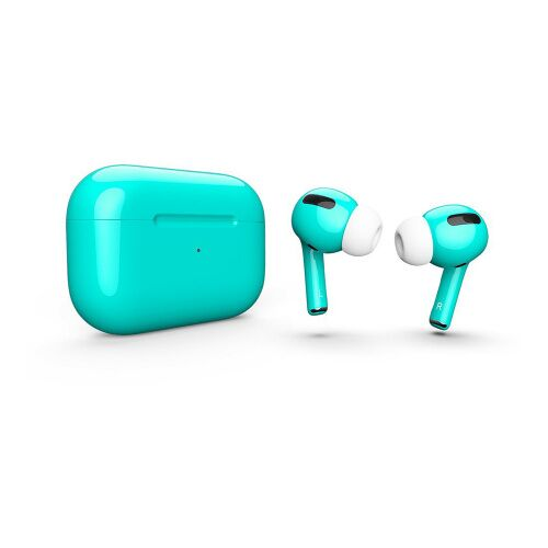 Как выглядит AirPods Pro Colors Tiffany Blue Gloss (MWP22)