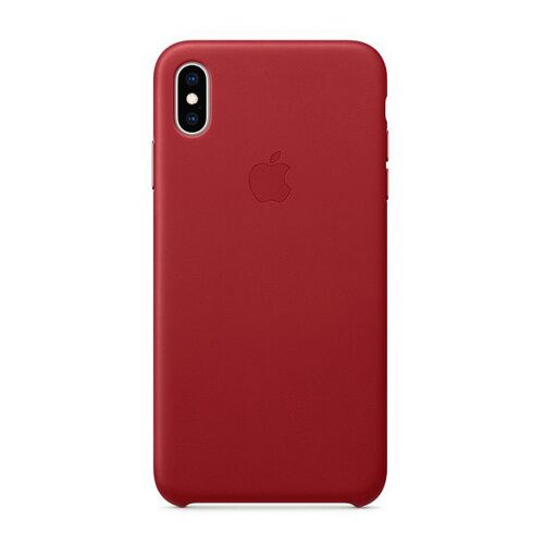 Как выглядит Чехол Apple Leather Case для iPhone XS Max (PRODUCT)RED (MRWQ2)