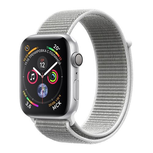 Как выглядит apple watch series 4 gps 44mm silver aluminum case with seashell sport loop (mu6c2)
