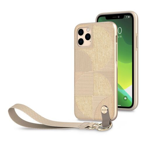 Как выглядит Чехол Moshi Altra Slim Case with Wrist Strap for iPhone 11 Pro Max  Sahara Beige (99MO117305)