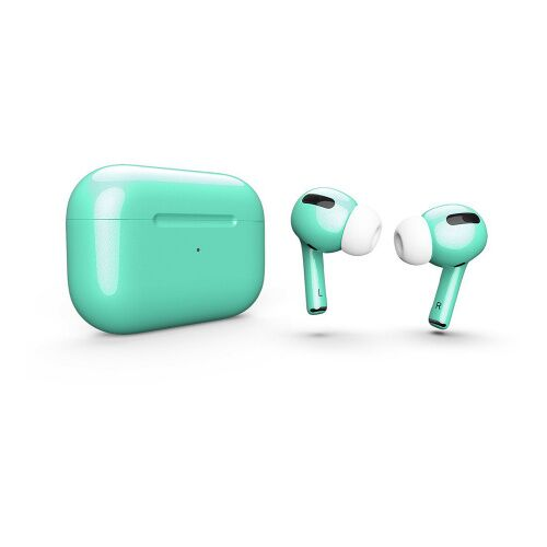 Как выглядит AirPods Pro Colors Mint Gloss Metal (MWP22)