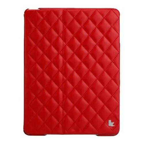 Как выглядит Jison Case Quilted Leather Smart Case Red for iPad Air (JS-ID5-02H30)