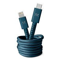 Как выглядит Кабель Fresh 'N Rebel Fabriq Cable USB-C to Lightning Petrol Blue 1.5m (2CLC150PB)