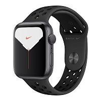 Apple Watch Series 5 Nike GPS 44mm Space Gray Aluminum Case with Black Nike Sport Band