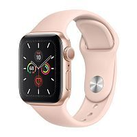 Как выглядит Apple Watch Series 5 GPS 40mm Gold Aluminum Case with Pink Sand Sport Band (MWV72)
