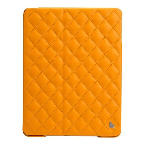 Как выглядит Jison Case Quilted Leather Smart Case Yellow for iPad Air (JS-ID5-02H80)
