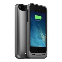 Как выглядит Чехол Mophie Juice Pack Helium 1500 mAh для iPhone SE / 5S / 5 Metallic Black (2375-JPH-IP5-MBLK-I)