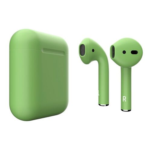 Как выглядит AirPods 2 Colors Lime Green Matte (MV7N2)