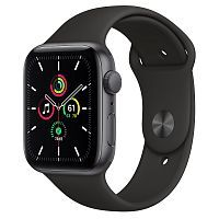 Как выглядит Apple Watch SE 44 mm Space Gray Aluminum Case with Black Sport Band