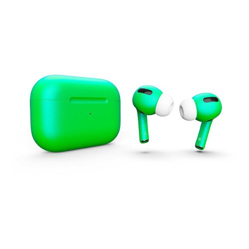 Как выглядит AirPods Pro Colors Lime Green Matte (MWP22)