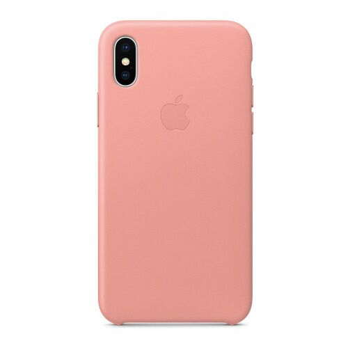 Как выглядит Чехол Apple Leather Case для iPhone X Soft Pink (MRGH2)