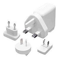 Как выглядит Сетевое ЗУ Capdase Dual USB Power Adapter World Travel Kit White (1A) for iPhone/iPod (ADIP-6702)