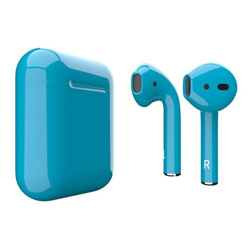 Как выглядит AirPods 2 Colors Light Blue Gloss (MV7N2)
