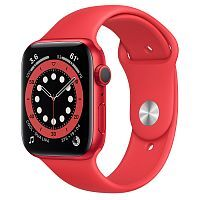 Как выглядит Apple Watch series 6 44 mm (PRODUCT)RED Aluminum Case with Red Sport Band