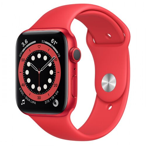 Как выглядит Apple Watch Series 6 44mm (PRODUCT) RED Aluminum Case with Red Sport Band (M00M3)