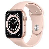 Как выглядит Apple Watch series 6 44 mm Gold Aluminum Case with Pink Sand Sport Band
