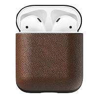 Как выглядит Чехол Nomad Rugged Case for AirPods Rustic Brown Leather (NM721R0000)