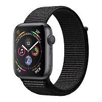 Apple Watch Series 4 GPS 44mm Space Gray Aluminum Case with Black Sport Loop (MU6E2)