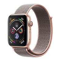 Apple Watch Series 4 GPS 44mm Gold Aluminum Case with Pink Sand Sport Loop (MU6G2)