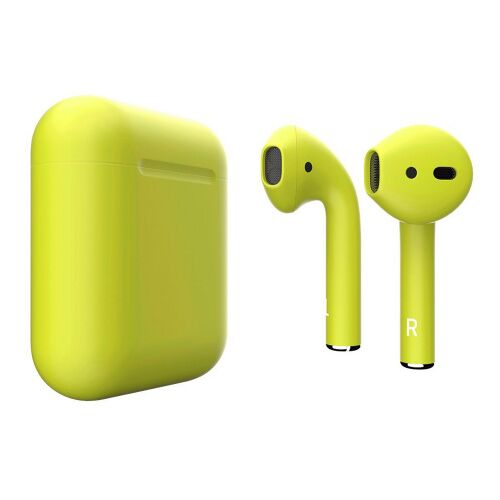 Как выглядит AirPods 2 Colors Lemon Matte (MV7N2)