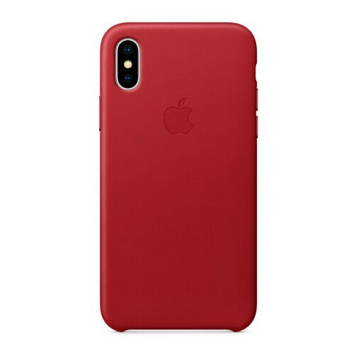 Как выглядит Чехол Apple Leather Case для iPhone XS (PRODUCT)RED (MRWK2)