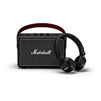 Как выглядит Акционный набор Marshall Kilburn II Black + Marshall Major III Bluetooth Black (1005273)