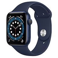 Как выглядит Apple Watch series 6 44 mm Blue Aluminum Case with Deep Navy Sport Band