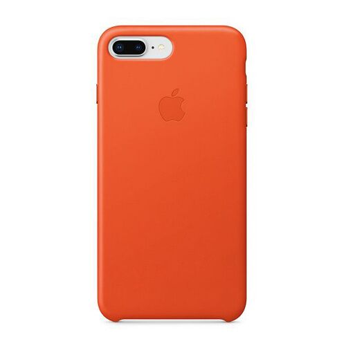 Как выглядит Чехол Apple Leather Case для iPhone 8 Plus / 7 Plus Bright Orange (MRGD2)