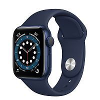 Как выглядит Apple Watch series 6 40 mm Blue Aluminum Case with Deep Navy Sport Band