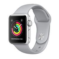 Apple Watch Series 3 GPS 38mm Silver Aluminium Case with Fog Sport Band (MQKU2)