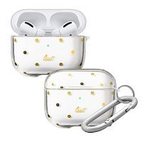 Чехол Laut DOTTY для AirPods Pro Clear/Gold (L_APP_DO_C)