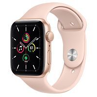 Как выглядит Apple Watch SE 44 mm Gold Aluminum Case with Pink Sand Sport Band