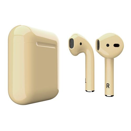 Как выглядит AirPods 2 Colors Light Yellow Gloss (MV7N2)