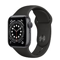 Как выглядит Apple Watch series 6 40 mm Space Gray Aluminum Case with Black Sport Band