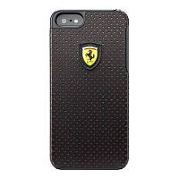Как выглядит Чехол CG Mobile Ferrari Hard Challenge Perforated Collection для iPhone SE / 5S / 5 Black (FECHFPHCP5)