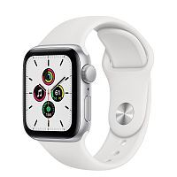 Как выглядит Apple Watch SE 40 mm Silver Aluminum Case with White Sport Band