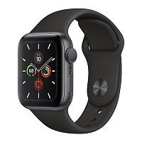 Как выглядит Apple Watch Series 5 GPS 40mm Space Gray Aluminum Case with Black Sport Band (MWV82)