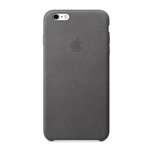Как выглядит Чехол Apple Leather для iPhone 6S Plus / 6 Plus Storm Gray (MM322ZM/A)
