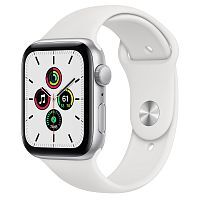 Как выглядит Apple Watch SE 44 mm Silver Aluminum Case with White Sport Band