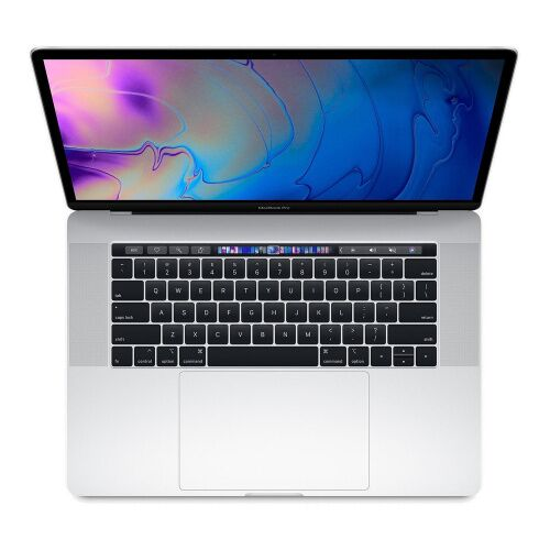 "Как выглядит macbook pro 15"" tb touch id / 6-core i7 2.2ghz / 16gb / 256gb / radeon pro 555x 4gb / silver, middle 2018 (mr962)"