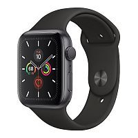 Как выглядит Apple Watch Series 5 GPS 44mm Space Gray Aluminum Case with Black Sport Band (MWVF2)
