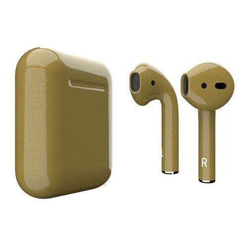 Как выглядит AirPods 2 Colors Mustard Gloss Metal (MV7N2)