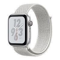 Apple Watch Series 4 Nike+ GPS 40mm Silver Aluminum Case with Summit White Nike Sport Loop (MU7F2)
