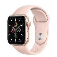 Как выглядит Apple Watch SE 40 mm Gold Aluminum Case with Pink Sand Sport Band