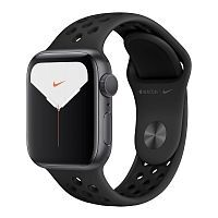 Как выглядит Apple Watch Series 5 Nike GPS 44mm Space Gray Aluminum Case with Black Nike Sport Band (MX3W2)
