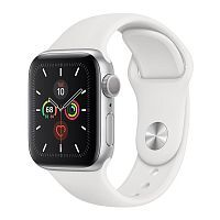 Как выглядит Apple Watch Series 5 GPS 40mm Silver Aluminum Case with White Sport Band (MWV62)